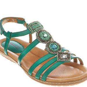 Earth Seaside sandals -Teal - NIB